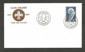 1957 Finland Boy Scouts badge FDC