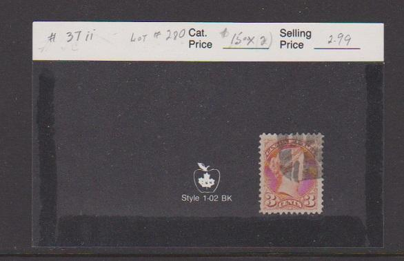 CANADA #37ii STAMPS USED   LOT#280