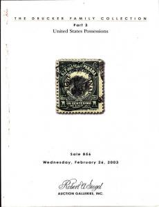 Robert A Siegel Sale 856-Drucker Family Collection, Part 3 Auction Catalog