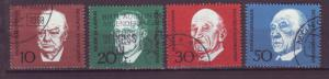 J16091 JLstamps 1968 germany set used #982a-d famous people