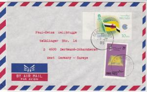 Brunei 1985 Airmail to Germany Kasur + Commonwealth Day Stamps Cover Ref 29094