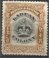 LABUAN, 1902, MH 18c, Crown  Scott 106