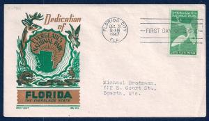 UNITED STATES FDC 3¢ Florida Statehood 1947 Ken Boll