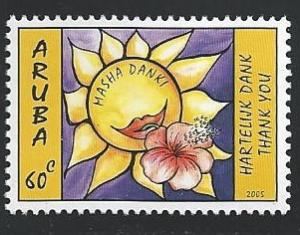 Aruba #257 60c Sunflower Greetings - Thank You 2005 mnh