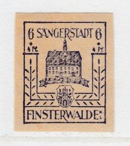 Finsterwalde WWII Germany World War II Local Stamp 1946 6+4pf MNH** A20P4F176
