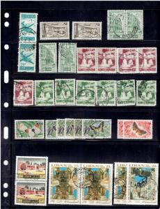 LEBANON, 2 STOCK PAGES OF AIRMAILS FROM 1946 TO PRESENT  USED, DUP's , PAIRS