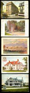 #328 PM (5) DIFF. USED POSTCARDS (3) WITH EXPO CANCELS -- NICE GROUP -- BT3002