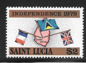St Lucia Mint Never Hinged [4182]