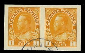 Canada #136 XF USED CDS Imperf Pair -- Wow Choice Quality