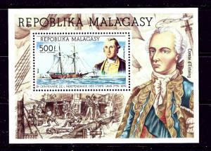Malagasy C140 MNH 1975 American Bicentennial  #2  S/S