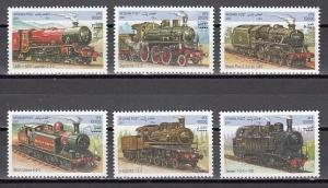Afghanistan, 2001 Cinderella issue. Locomotives issue.