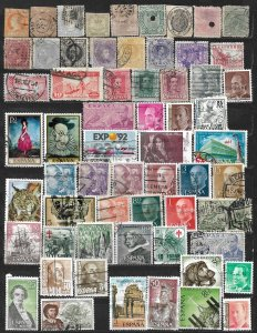 COLLECTION LOT OF 61 SPAIN 1860+ STAMPS