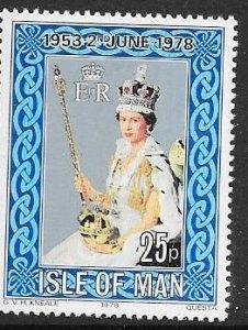 Isle of Man  #130  25p   Elizabeth ll   (MNH) CV $0.75