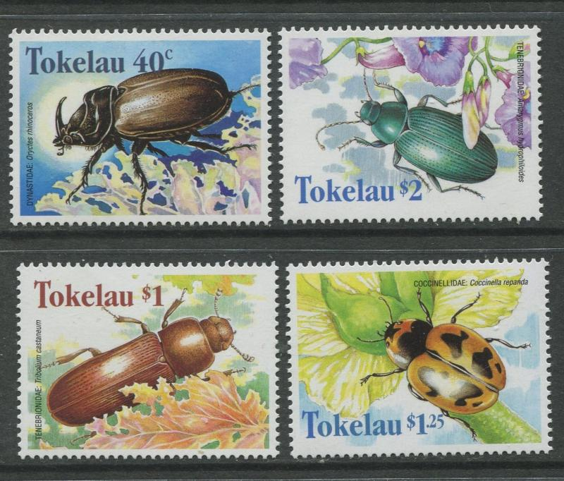 Tokelau - Scott 255-258 - Beetles -1998 - MNH - Set of 4 Stamp