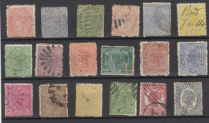 Queensland QV Collection Of 18 Fine Used JK6334