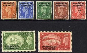 Morocco Agencies SG94/100 Set of 7 Superb used Cat 60 pounds