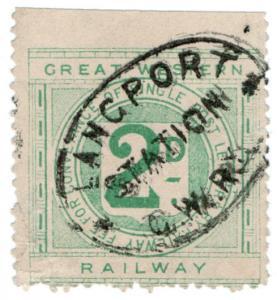 (I.B) Great Western Railway : Letter Stamp 2d (Langport Station)