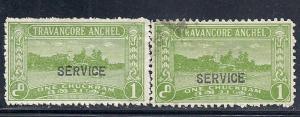India- Travancore #O45 (M&U) CV $10.50