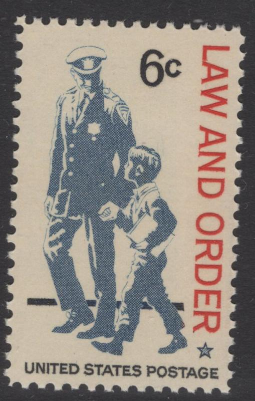 US 1968 Law & Order 6c Stamp Scott 1343 MNH