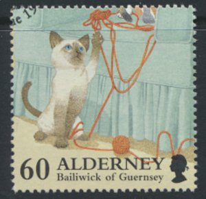 Alderney  SG A94  SC# 97  Cats   Used First Day Cancel - as per scan