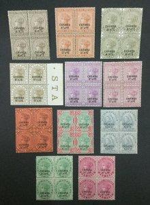 MOMEN: INDIA CHAMBA SG #4,9-10,12-14-6,18,23-4,26 BLKS MINT OG 38NH #193643-2363