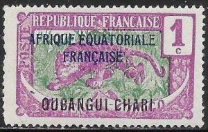 Ubangi-Shari 41 Unused/Hinged - Leopard