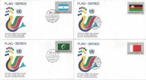 United Nations New York 499-514 FDC 1987 Flag Series Geneva Cachet