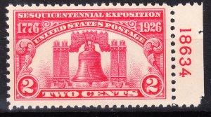 MOstamps - US #627 Mint OG NH - Lot # DS-20