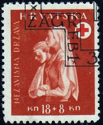Croatia #B50 Nurse and Patient, used. HM