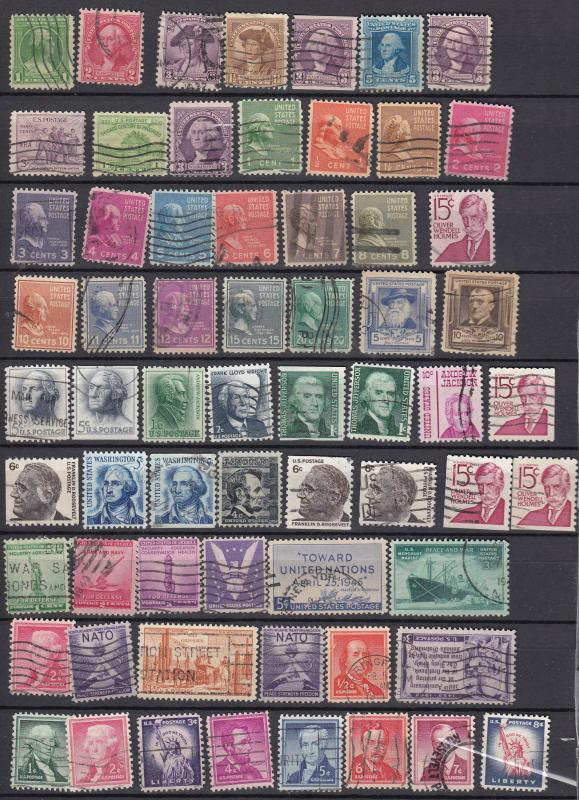 USA - 315+ stamp lot collection #5  (1371)