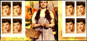 US Stamp #4077 MNH - Judy Garland Vertical Gutter Block of 8
