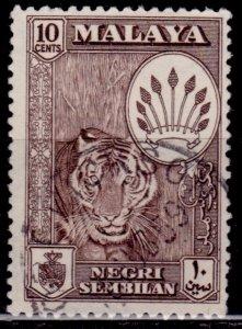 Malaya, Negri Sembilan, 1957-63, Coat of Arms, 10c, used