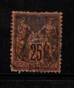 France SC# 93, Used, Shallow top/center thin - Lot 101017