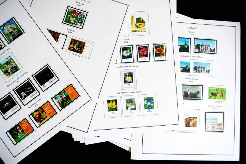 COLOR PRINTED GERMANY 2011-2020 STAMP ALBUM PAGES (85 illustrated pages)