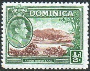 Dominica 1938 ½d Fresh Water Lake MH