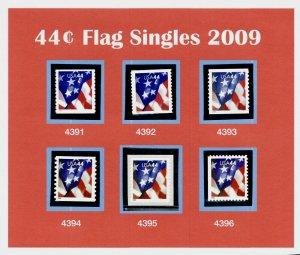 2009 US Flags 4391 4392 4393 4394 4395 4396  Singles MNH