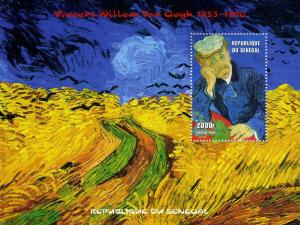 Senegal 1999 VINCENT VAN GOGH Paintings s/s Perforated Mint (NH)
