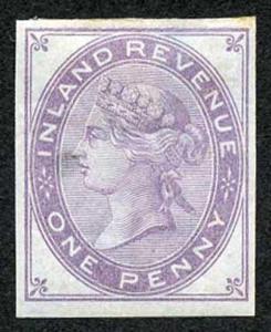 1d Lilac Postal Fiscal SGF20-22 Imprimatur Plate 145