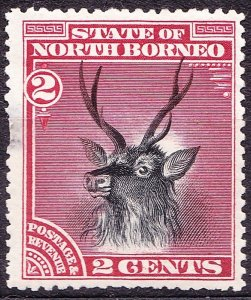 NORTH BORNEO 1909 2 Cents Black and Lake SG69a MH CV £50
