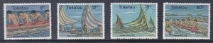 Tokelau 65-68 MNH OG 1978 Canoe Racing Full Set of 4 Very Fine