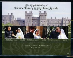 BEQUIA 2018  ROYAL WEDDING OF PRINCE HARRY & MEGHAN MARKLE SHEET  MINT NH