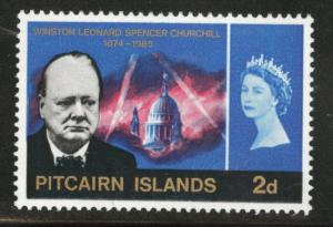 Pitcairn Islands Scott 56 MH* 1966 Churchill stamp CV$2.50