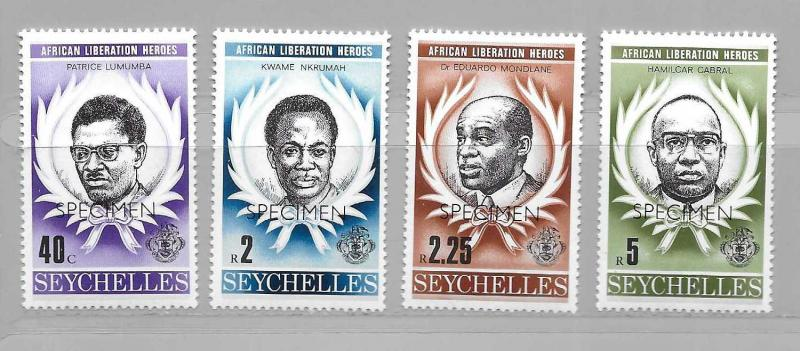 Seychelles 430-33 African Liberation Heroes set MNH SPECIMEN
