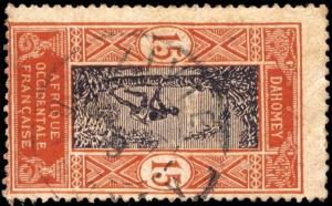 DAHOMEY - 1919 - CAD DOUBLE CERCLE ZIVIÉ / DAHOMEY SUR N°48