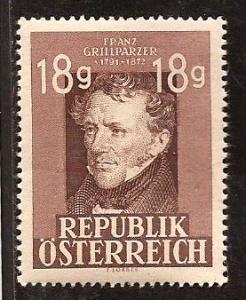 Austria  #  489  Mint  N H