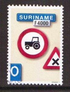 Surinam  #1248  used   2001  traffic signs.  tractor  4000f