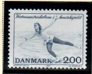 Denmark Sc 721 1982 Figure Skating Championships stamp mint NH