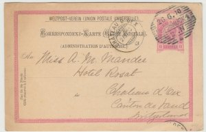 Austria; Stationery PC, 1900, Innsbruck To Chateau D'Oex, 10 Heller Rate