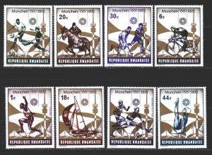 Rwanda. 1972. 521-28. Munich Summer Olympic Games. MNH.