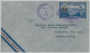 HONDURAS -  POSTAL HISTORY - COVER to Czechoslovakia 1939
